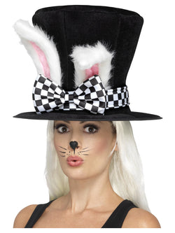Black & White Tea Party March Hare Top Hat