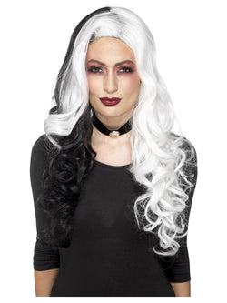 Deluxe Black and white Evil Madame Wig