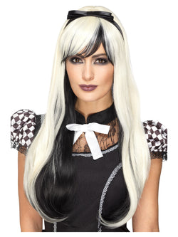 Blonde and black Deluxe Gothic Alice Wig