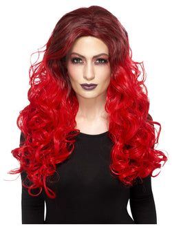 Deluxe Devil Glamour Red coloured Wig