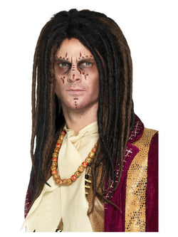 Deluxe Voodoo Dreadlock Wig, Brown & Black