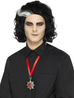 Silver Deluxe Vampire Metal Medallion Necklace