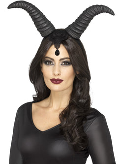 Demonic Queen Horns, on Headband - The Halloween Spot