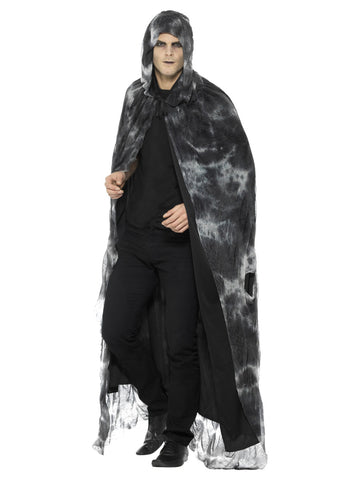 Black & Grey Deluxe Spellbound Decayed Cape