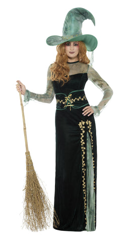 Deluxe Emerald Witch Costume - The Halloween Spot