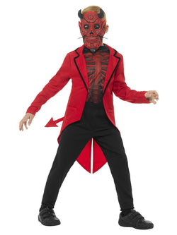 Deluxe Day of the Dead Devil Boy Red Costume