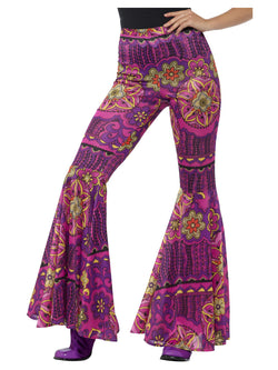 Psychedelic Flared Trousers for Ladies