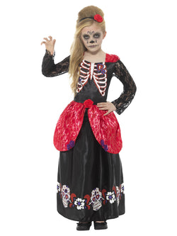 Deluxe Day of the Dead Girl Costume | Kids Scary Costume Day of the Dead