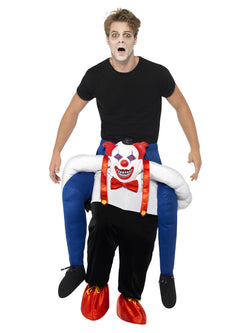 Men's Piggyback Sinister Clown Carryme Costume