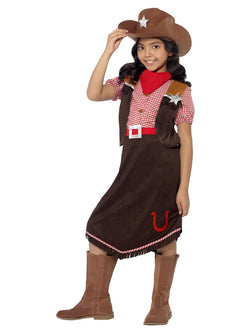 Girl's Deluxe Cowgirl Costume