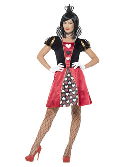 Women's Red coloured Carded Queen Costume