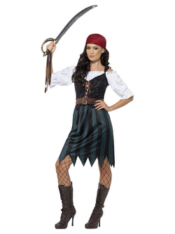 Women's Pirate Deckhand Costume - The Halloween Spot