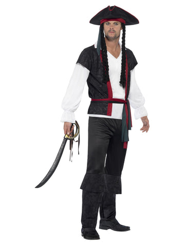 Men's Plus Size Aye Aye Pirate Captain Costume