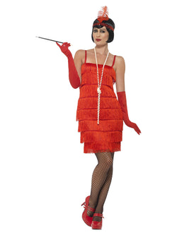 Red Large Size Short Dress Flapper Costume
