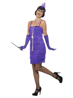 Women's Flapper Costume, Plus Size, Purple