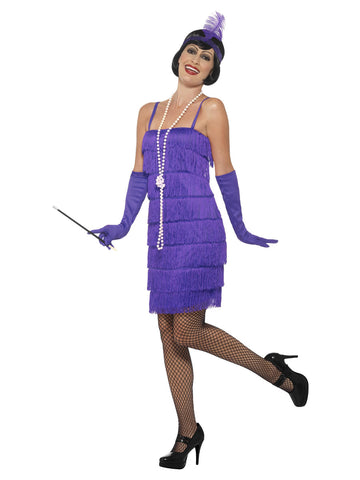 Women's Plus Size Purple Flapper Costume