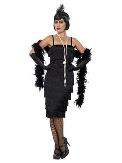 Women's Black Flapper Costume long dress
