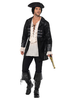 Buccaneer Pirate Jacket, Black