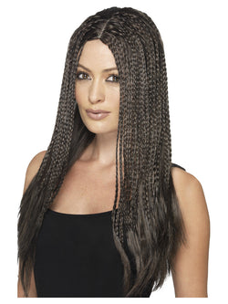 90's Braid Wig Brown Colour
