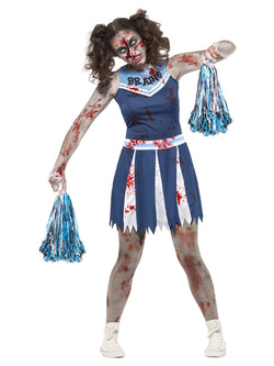 Women's Teen Size Zombie Cheerleader Costume