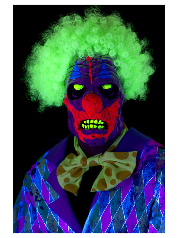 UV Black Light Clown Mask