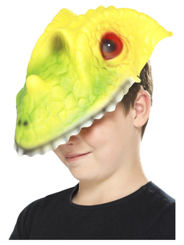 Green & Yellow EVA Crocodile Head Mask