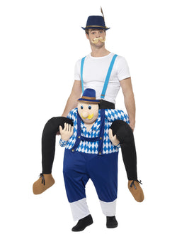 Piggyback Bavarian Costume, Blue, One Piece Suit with Mock Legs