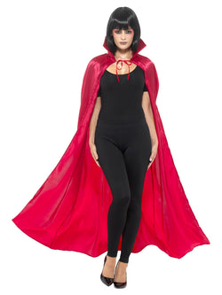 Red coloured Satin Devil Cape