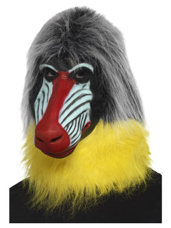 Baboon Mask, Grey, Latex, Full Overhead