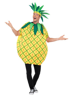 Pineapple Costume, Yellow, with Tabard & Leaf Crown Headband