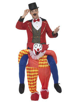 Piggyback Clown Costume, Yellow, One Piece Suit with Mock Legs