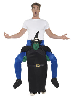 Men's Piggyback Witch Costume - The Halloween Spot