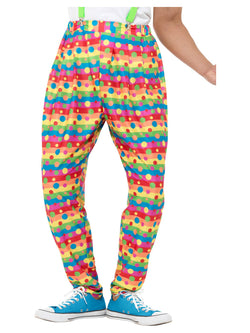 Clown Trousers, Neon, with Spots & Stripes