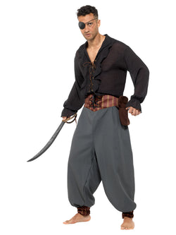 Pirate Blouson Pants, Grey, with Pockets