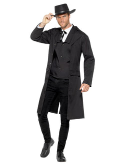 Bounty Hunter Costume, Black, with Waistcoat & Jacket