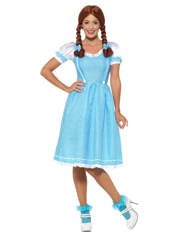 Kansas Country Girl Costume, Blue & White, with Dress & Hair Bows