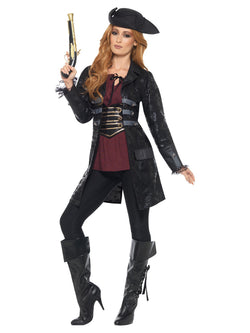 Pirate Jacket, Ladies, Black