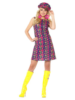 Women's  1960s Psychedelic CND Costume - The Halloween Spot