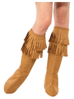 Hippie Fringe Bootcovers, Brown