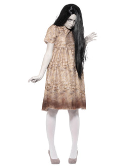 Evil Spirit Costume, Grey, with Decayed Dress & Wig