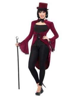 Lady Vampire Jacket, Burgundy, Velour