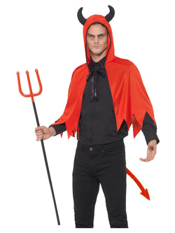 Devil Kit, Red, with Horn Cape, Detachable Trident & Tail