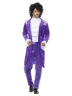 80s Purple Musician Costume - The Halloween Spot