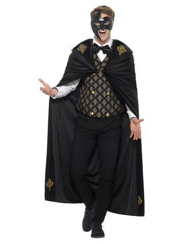 Black & Gold Deluxe Phantom Costume