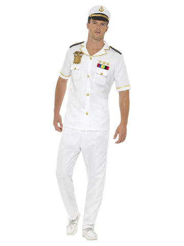 White colour Captain Costume