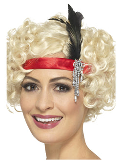 Red Satin Charleston Headband - The Halloween Spot