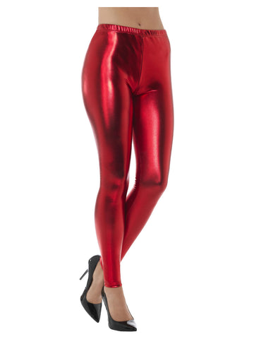 80s Metallic Disco Leggings