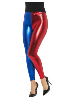 Harlequin Cosplay Leggings, Metallic - The Halloween Spot