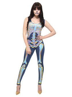 Blue Fever Sexy Skeleton Costume