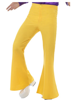 Men's Yellow 1960's Flared Trousers